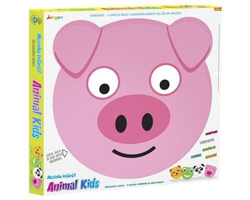 Mesa com Banquinhos Animal Kids - Porquinho