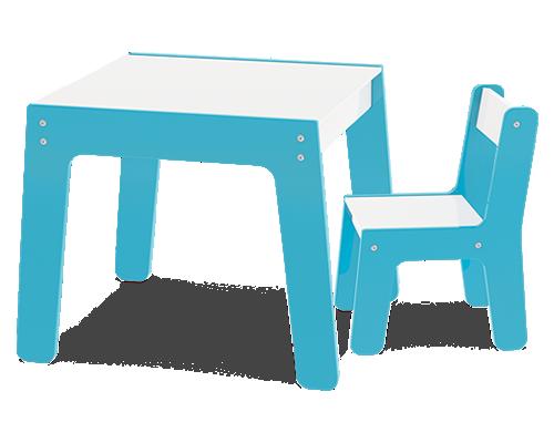 Mesa com Cadeira - Azul