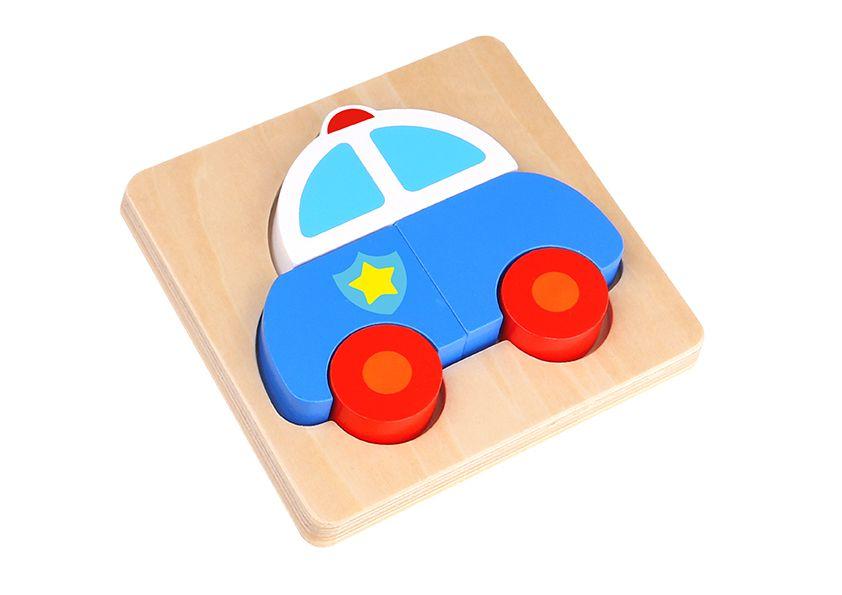 Mini Quebra-Cabeça - Carro de Policia