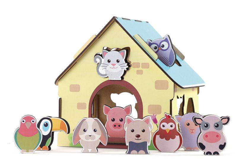 Passa Figuras Animais da Fazenda