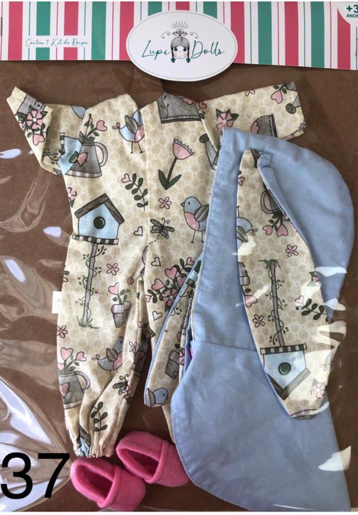 Pijama Jardim da Coleção de Roupinhas Lupi Dolls