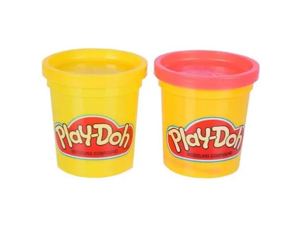 Play-doh 2 Potes: Rosa e Amarelo