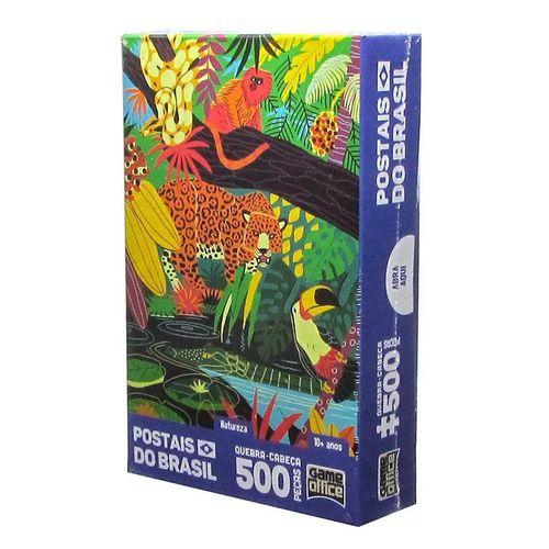 Postais do Brasil Natureza Quebra-Cabeça 500 Peças