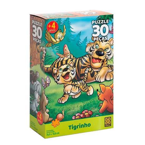 Quebra-Cabeça 30 Peças Tigrinho