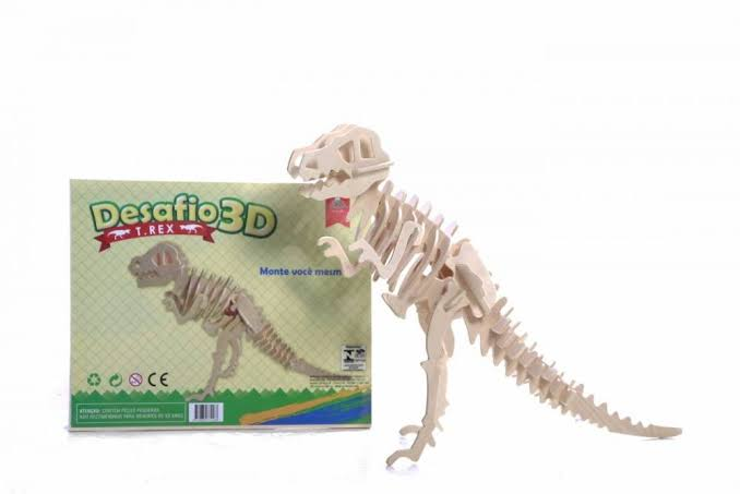 Quebra Cabeça 3D T-Rex