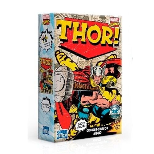 Quebra-Cabeça 500 Peças -Marvel Comics - Thor