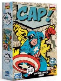 Quebra-Cabeça 500 Peças Nano - Marvel Comics - Capitão América