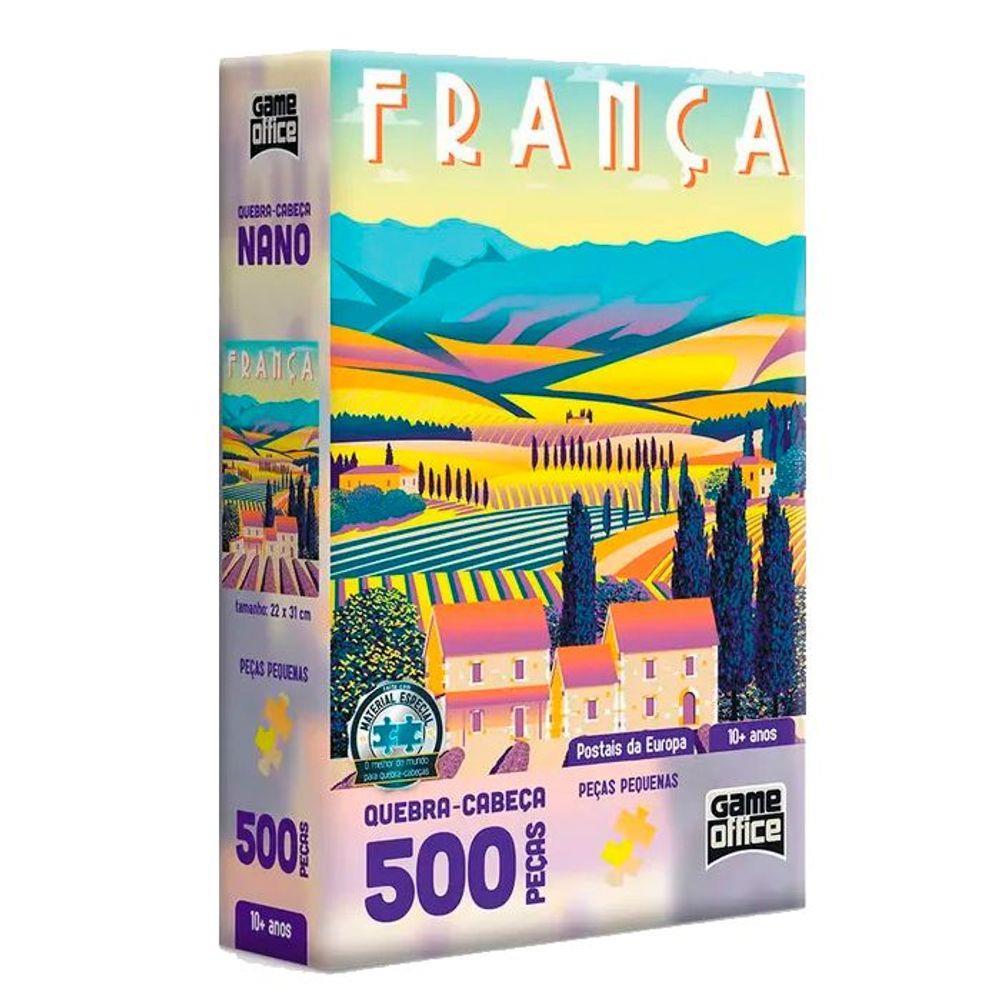 Quebra-Cabeça 500 Peças Nano - Postais da Europa - França
