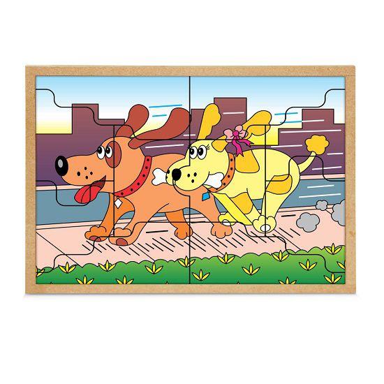 Quebra-Cabeça Casal Cachorros