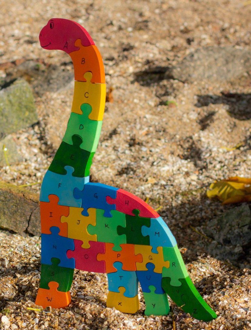 Quebra-Cabeça Dinossauro (modelos variados)