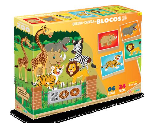 Quebra-Cabeça em Blocos Zoo
