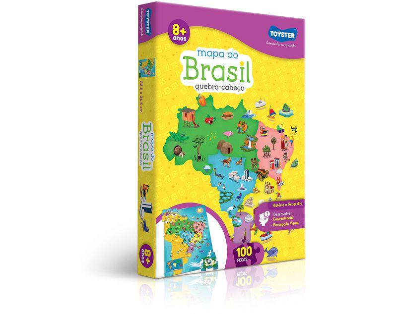 Quebra-Cabeça - Mapa do Brasil 100 Peças