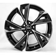 Jogo 4 Rodas GT7 Audi RS7 2020 Aro 20 Tala 8,5 furação 5x112 Et 42 Preto com diamantado