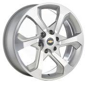 Jogo 4 rodas KR R-53 Traiblazer aro 22 furação 6x139,7 tala 9 ET 40 prata com diamante