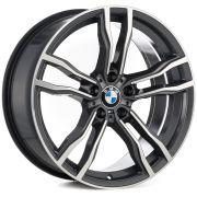 Jogo 4 Rodas Raw MC/B19 BMW X6M aro 20 tala 8,5 furação 5x120 Et35 Grafite diamantado brilhoso
