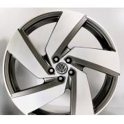 Jogo 4 Rodas Monacco Golf GTI Passione aro 20 tala 7,5 furação 5x100 ET45 Grafite fosco diamantado