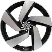 Jogo 4 Rodas Monacco Golf GTI Passione Aro 20 Tala 7,5 Furação 5x100 ET45 Preto Brilhoso com diamantado