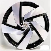 Jogo 4 Rodas Monacco GTI Passione aro 20 tala 7,5 furação 5x112 ET45 Preto brilhoso com diamante