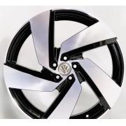Jogo 4 Rodas Monacco Golf GTI Passione aro 20 tala 7,5 furação 5x112 ET45 Preto brilhoso com diamante