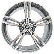 Jogo 4 rodas Presenza BMW PRZ-941BMW M6 aro 20 5x120 Grafite brilhoso c/ diamantado tala 8,5 ET35