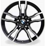 Jogo 4 Rodas Raw MC/B19 BMW X6M aro 20 tala 8,5 furação 5x120 Et35 Preto diamantado brilhoso