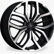 Jogo 4 rodas Raw MC/L08 Range Rover Sport aro 22 Tala 9 Furação 5x108 ET45 Preto brilhante e diamante