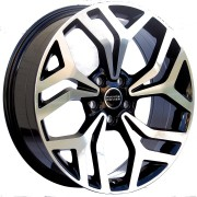 Jogo 4 Rodas Raw MC/L11 Land Rover Velar Aro 22 Tala 9 Furação 5x108 ET45 Preto com diamantado