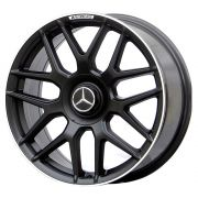 Jogo 4 rodas Raw MC/M10 Mercedes S63 AMG aro 20 5x112 tala 8,5 preto fosco com borda diamante ET45