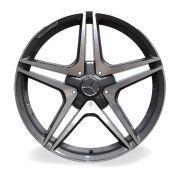 Jogo 4 Rodas Raw MC/M21 Mercedes AMG C63 aro 20 5x112 tala 8 Grafite e diamante ET45