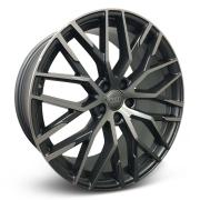 Jogo 4 Rodas Zeus ZWAR8 Audi R8 Aro 20 Tala 8,5 furação 5x112 Et 45 Grafite e diamante