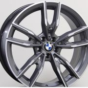 Jogo C/ 02 Rodas Raw MC/B30 BMW340I Aro20 tala 8 ET25 furação 5x112 dianteira e 02 Rodas aro20 tala8,5 ET40 furação 5x112 traseira Grafite diamantado