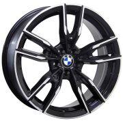 Jogo com 4 Rodas Raw MC/B30 BMW 340I Aro20 tala 8,5  furação 5x120 ET42  Preto diamantado