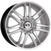 Jogo com 4 rodas KR K-15 Audi Pavia aro 14 furacão 4x100/108 silver star tala 6