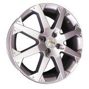 """Jogo com 4 rodas KR R-16 GM Chevrolet Astra SS aro 14"""" furacão 4X100 prata tala 6"""
