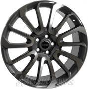 Jogo com 4 rodas Presenza PRZ 959 Range Rover aro22 tala 9,5 furação 5x120  ET48 Grafite com diamante