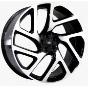 Jogo com 4 Rodas Raw MC/L15 Rang Rover velar Auto Biography Aro22 tala 9  furação 5x108 ET45  Preto diamantado