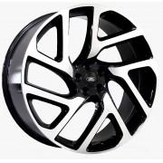 Jogo com 4 Rodas Raw MC/L15 Range Rover Velar Autobiography aro 22 tala 9 Furação 5x120 ET45 Preto Brilhoso com diamantado