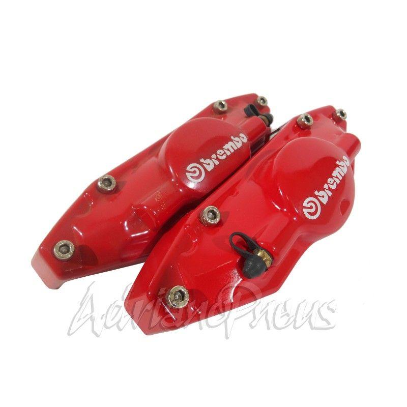 Kit 2 capa de pinça pequena vermelha,indicado freio tras. Golf.