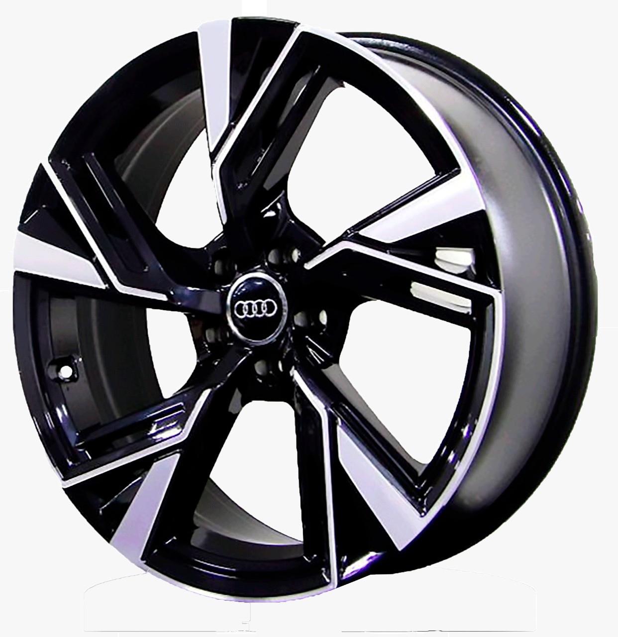JG 4 Rodas Raw MC/A19 Audi RS6 2020 aro 20 tala 8,5 furação 5x112 ET45 Preto com diamantado