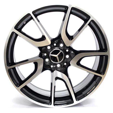 Jogo com 4 Rodas GT7 C43  Mercedes C43 AMG aro20 Tala8 furação 5x112 ET42 preto com diamantado