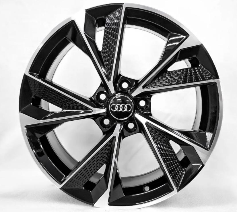 Jogo 4 Rodas GT7 Audi RS7 2020 Aro 20 Tala 8,5 furação 5x100 Et 42 Preto com diamantado