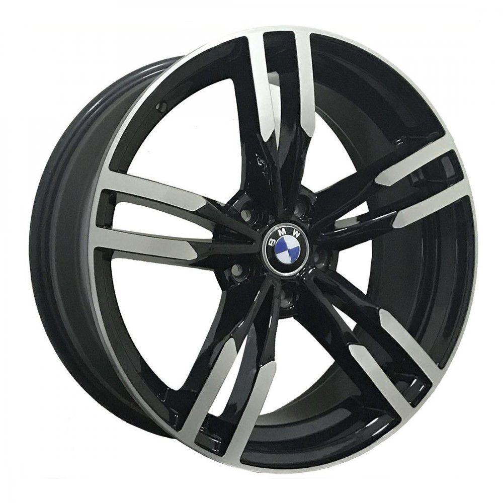 Jogo 4 Rodas GT7 BMW M3 Aro 20 Tala 8 Furação 5x120 ET35 Preto com diamantado