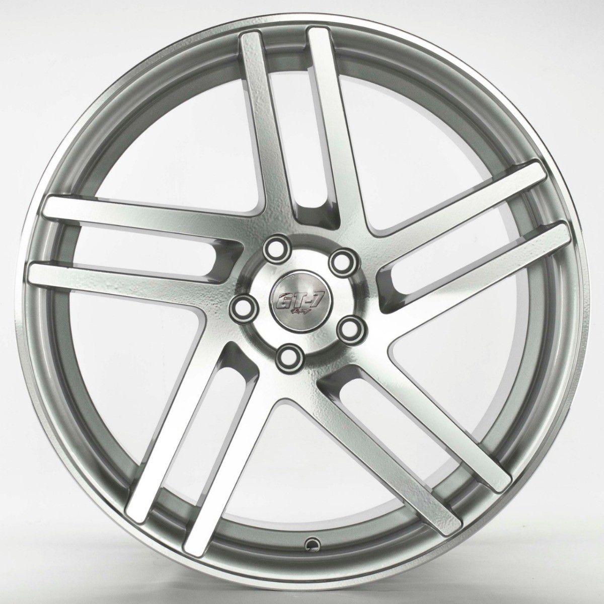 Jogo 4 Rodas GT7 Roadster V1 Aro 20 Tala 8,5 Furação 5x100 ET35 Prata com diamantado