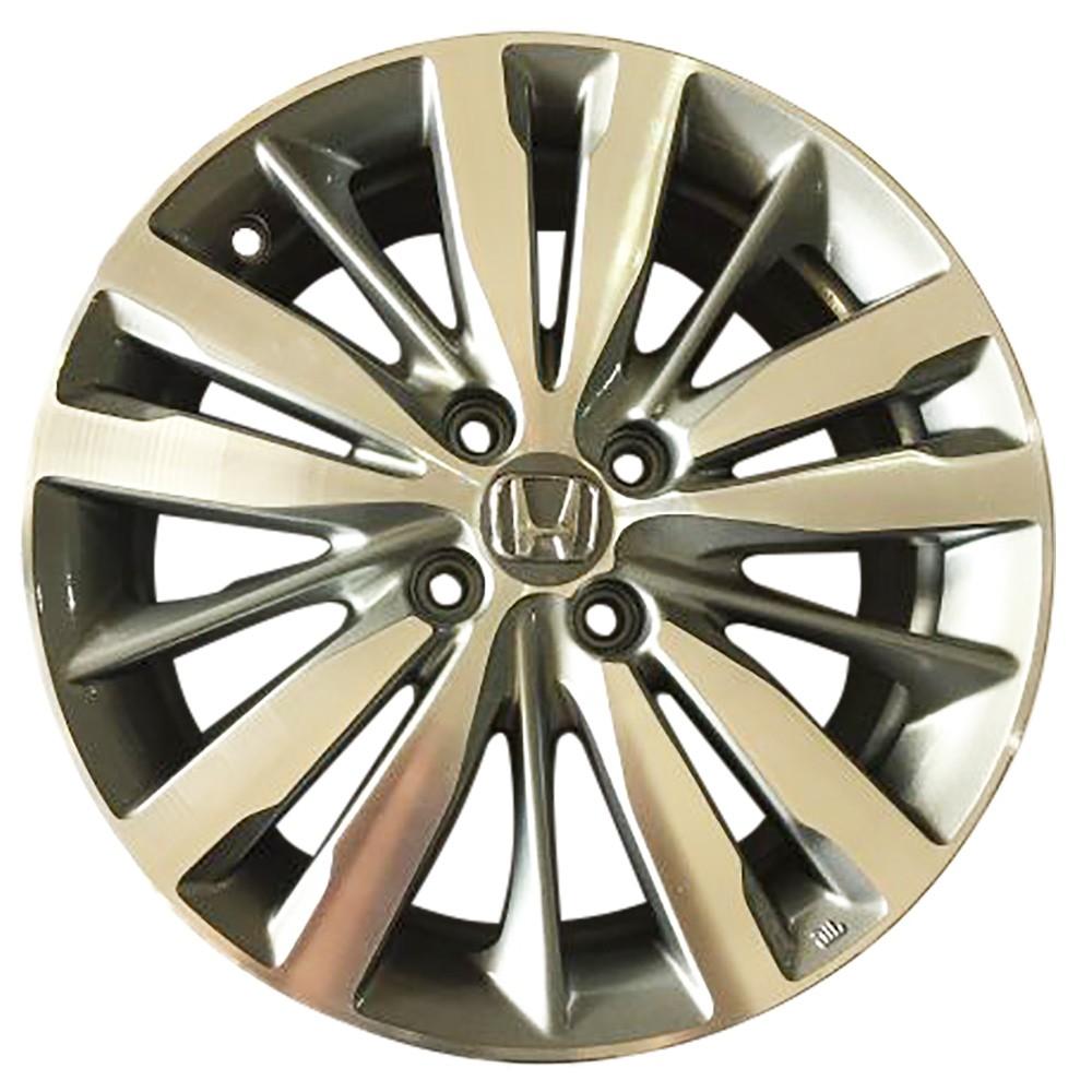 Jogo 4 rodas KR R-99 Honda Fit 2018 aro 15 furação 4x100 Grafite diamantado brilhoso tala 6 Et 50