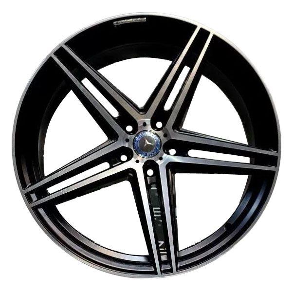 Jogo 4 Rodas Presenza PRZ-1102 Mercedes AMG GT Roadster aro20 Tala 9 furação 5x112 ET35 Preto fosco com diamantado