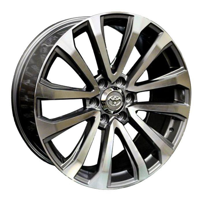 Jogo 4 rodas Presenza PRZ-1223 Hilux aro 22 6X139,7 grafite e diamante tala 9 ET30