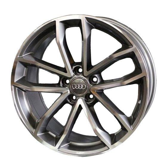 Jogo 4 Rodas Presenza PRZ-1245 Audi S5 Sportback aro20 tala9 furação 5x112 ET30 Grafite com diamante brilhoso