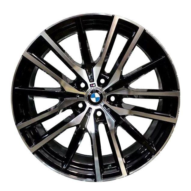 Jogo 4 Rodas Presenza PRZ-1473 BMW X5 2019 aro20 Tala 9 furação 5x120 ET35 Preto com diamantado