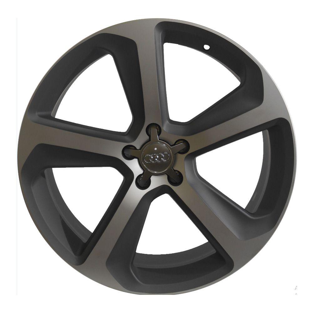 Jogo 4 rodas Zeus ZWAQ5 Audi Q5 aro 20 Tala 8 5x112  ET47 Grafite fosco e diamante