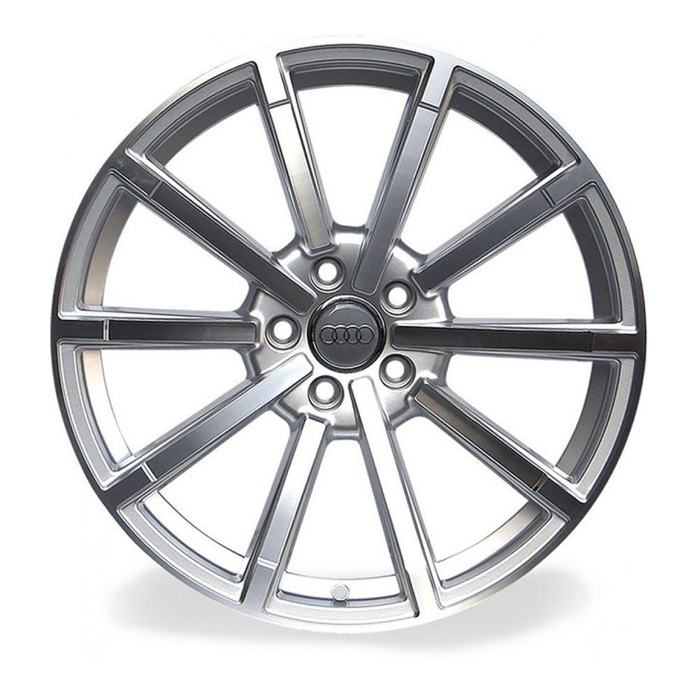 Jogo 4 rodas Raw MC/A02 Audi RS5 5x112 aro 20 tala 8,5 ET45 prata e diamante